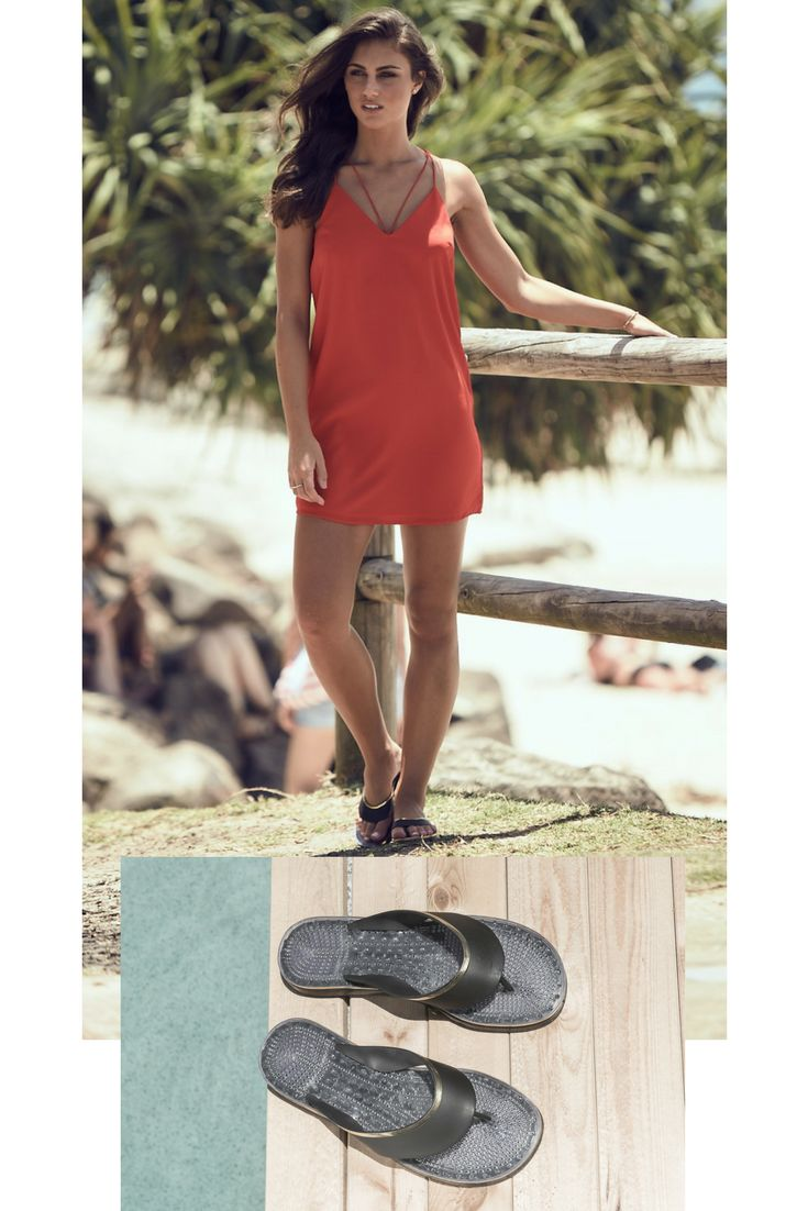 Our model looking glamorous by the beach in our Camboriu beach-resort-cruise SANDALS || massage soles with breathable vents || SHOP yours now || we ship worldwide