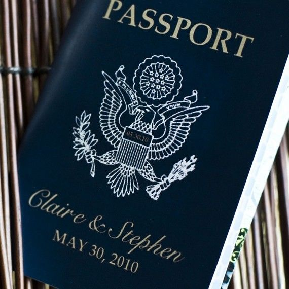 Passport Invitation or Save the Date  by sproulliedesigns on Etsy, $50.00
