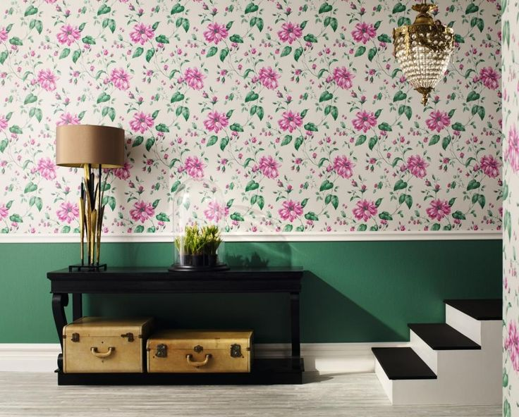 http://www.drissimm.com/wp-content/uploads/2015/11/bautiful-floral-wallpaper-wall-design-beside-table-lamp-and-plant-on-the-table-near-stairs-under-pedant-lamp.jpg