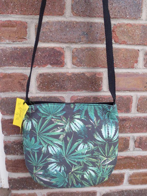 Cannabis Cross Body Bag  Mary Jane Cross by BitchinBagsbyBenita