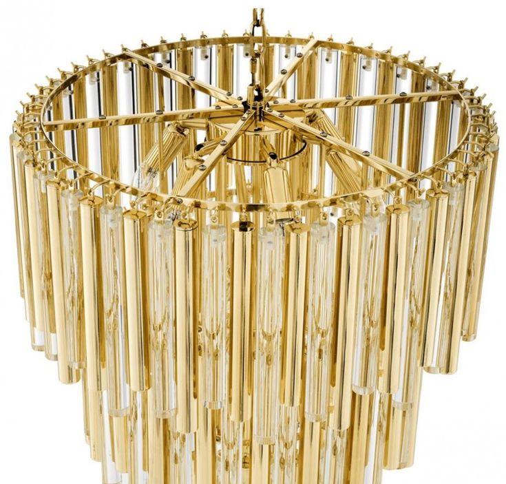 Casa Padrino Luxus Kronleuchter Gold Durchmesser 57 x H. 88 cm - Hotel Möbel 5