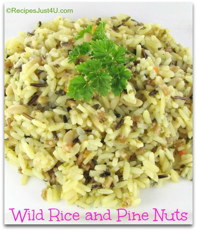 Pine nut recipes, Wild rice and Pine on Pinterest