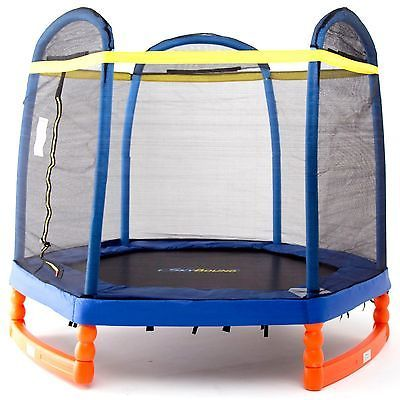 SkyBound Super7 7ft Indoor/Outdoor Trampoline with Safety Enclosure Net