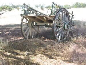 An Old horse cart for restoration or as a garden ornament