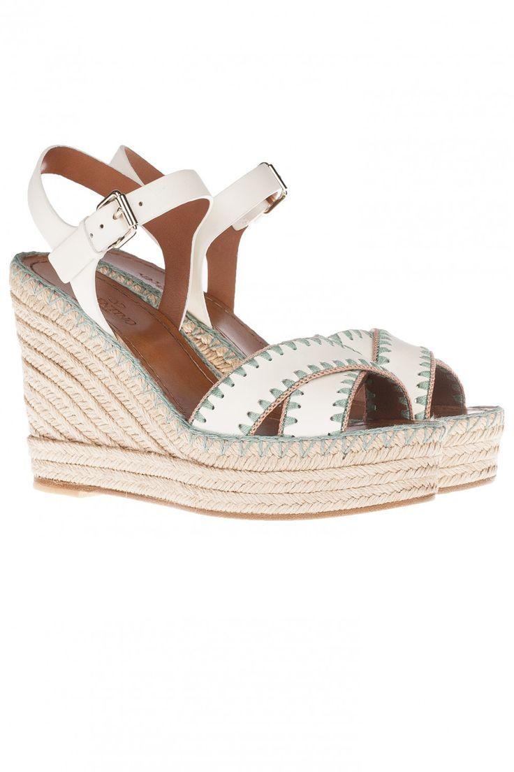 Купить: Кожаные Босоножки на Платформе Valentino, Обувь