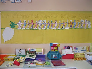 Teaching cooperation: tug of war and the enormous turnip