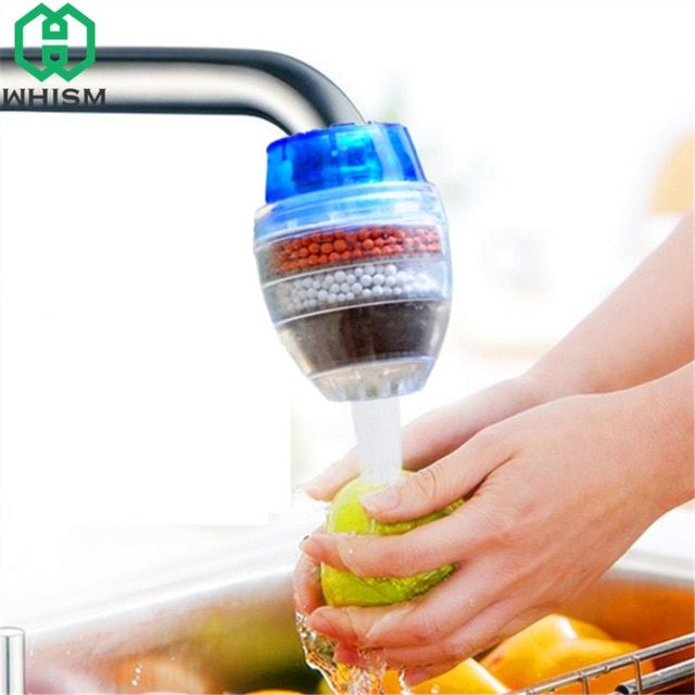 Whism Plastic Mini Carbon Water Filter Tap Water Clean Purifier Filter Filtration Cartridge Bathroom Acces Carbon Water Filter Bathroom Accessories Clean Water