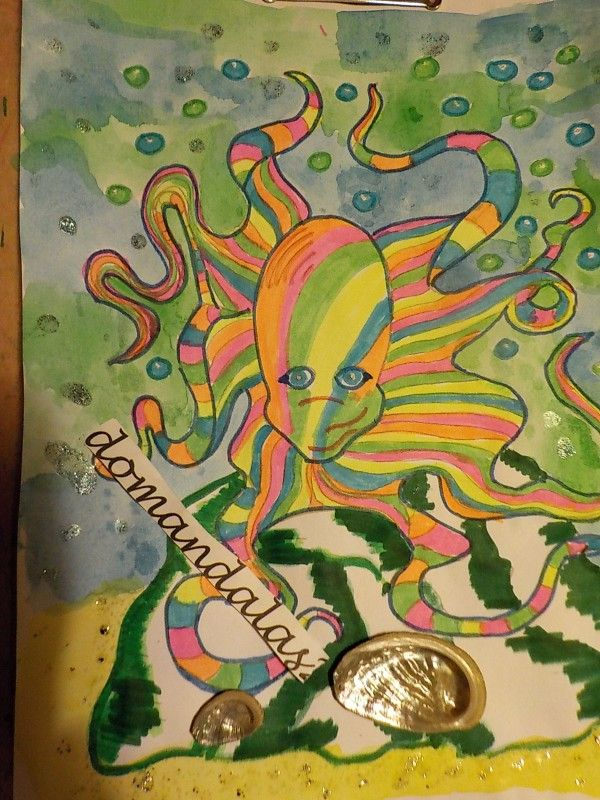 Creation by domandalas3, coloring page from the gallery Water worlds