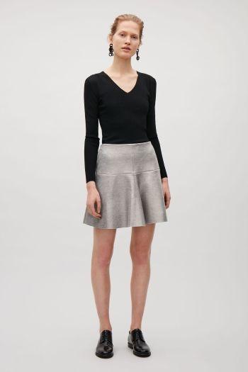 COS image 1 of Metallic foil skirt in Metallic