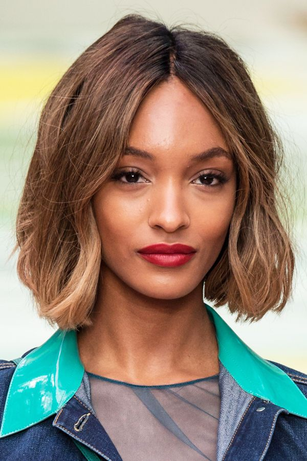 "Major Fall Haircut Inspiration, From Bobs To Undercuts #refinery29 http://www.refinery29.com/haircut-ideas-fall-2014#slide3 According to Motions celebrity stylist Ursula Stephen, the ubiquitous bob — in all its iterations — is still going strong. ""The longer, blunt bob cut [is] definitely trending this season,"" she says. ""You've seen it on everyone from model Jourdan Dunn [shown] to Kristen Wiig. It's edgy and makes for a manageable style for the cooler months."" To cop Jourdan's cool-girl…"