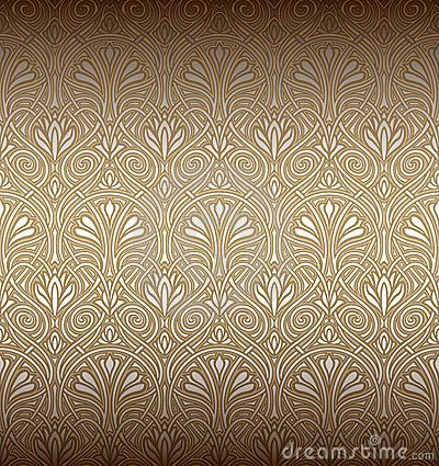 Art Nouveau Patterns Designs | Seamless Art Nouveau Pattern Stock Photography - Image: 18518812