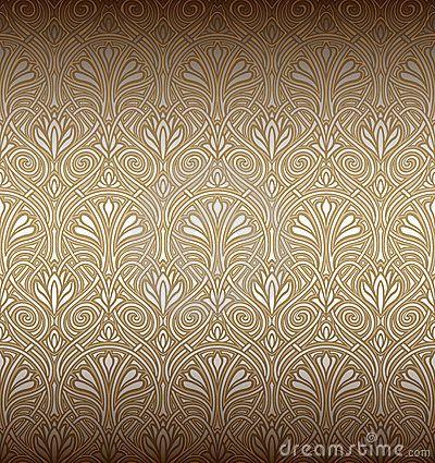 Het Naadloze Patroon Van De Jugendstil Stock Fotografie - Beeld: 18518812