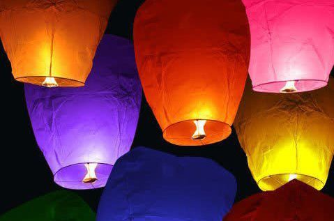 We have White on sale for $4! This is the biggest best deal online for an eco-friendly sky lantern. This sky lanterns is 38 Inches tall! Avaialble in White, Purple, Red, Blue, Pink and Green. 100% Eco