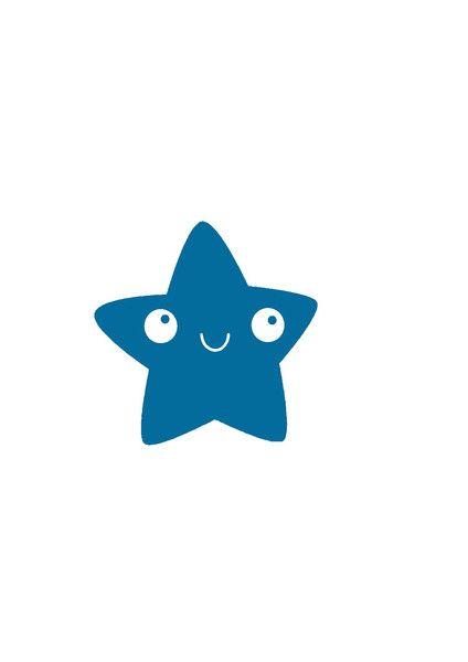 Bügelbild Kawaii Stern aus Flex-Folie von Folienschnitt auf DaWanda.com