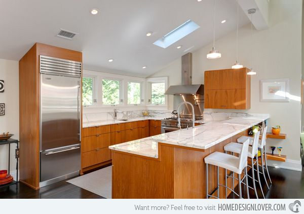 17 Beautiful Contemporary U-Shaped Kitchen Layouts | Home Design Lover