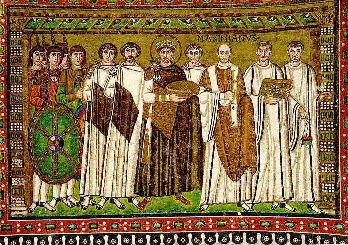 Basilique St-Vitale - Ravenne - l'Empereur Justinien et sa Cour