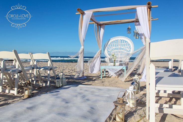 Kingscliff beach wedding ceremony hire tweed coast http://www.circleofloveweddings.com.au/