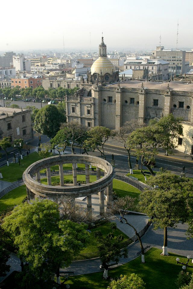 Guadalajara, the cultural center of Mexico. The Metropolitan Cathedral began construction in 1558.