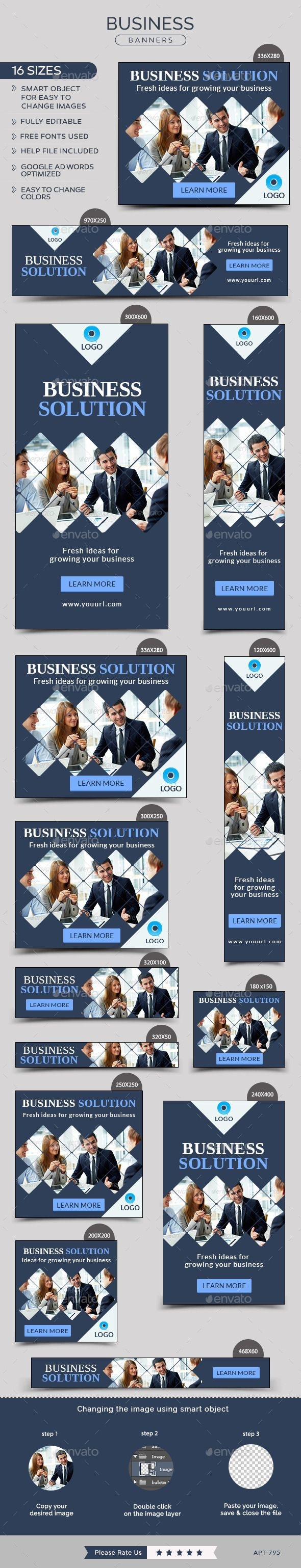 Business Banners Template #design Download: http://graphicriver.net/item/business-banners/12255066?ref=ksioks