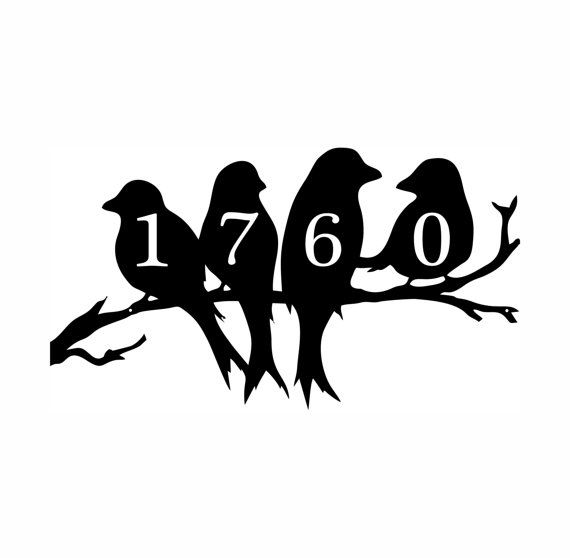 Birds On A Limb Address Plaque House Number by EvyAnnDesigns