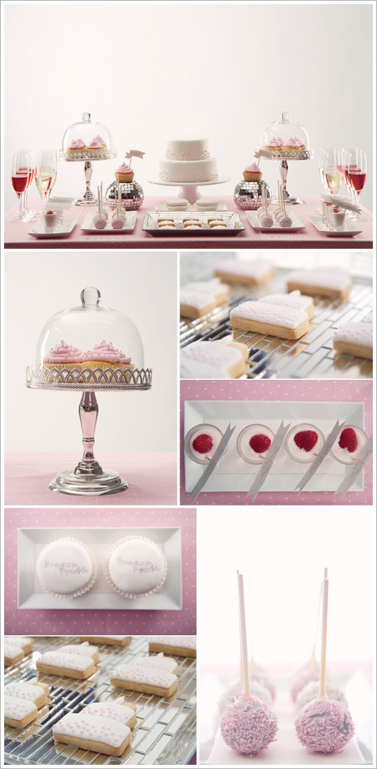 I love the idea of a dessert buffet table. I'd rather have a sampling of adorable desserts than one big hunk of cake.