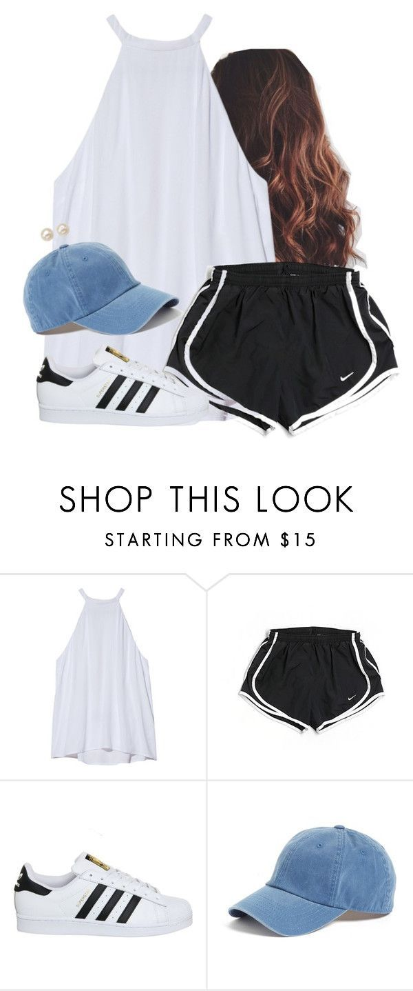 Lil blue by aweaver-2 on Polyvore featuring A.L.C., NIKE, adidas, American Needle and Honora