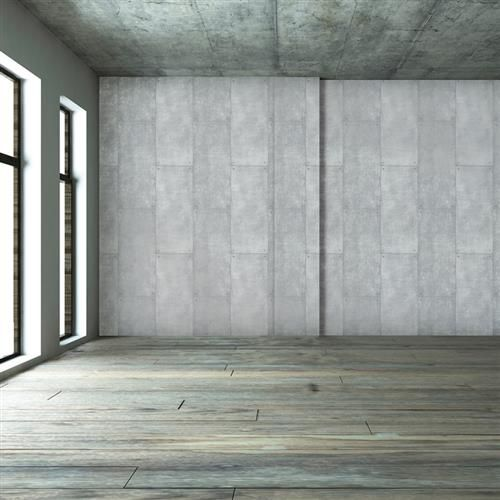 Metal Loft Smooth Surface Silver Removable Wallpaper