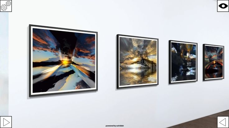 Explore an art exhibition in VR - without the headset - Elaine Hunters new exhibition in the Solo gallery - Reflections -   click the link to visit - https://exhibbit.com/exhibitions/