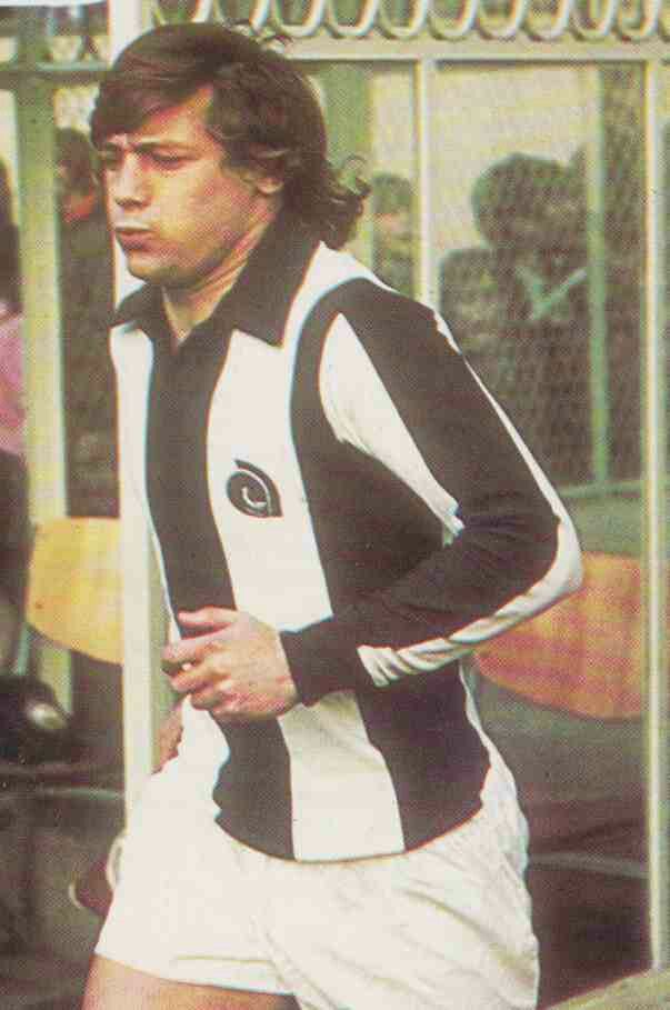 Willie Johnston of West Brom in 1975.