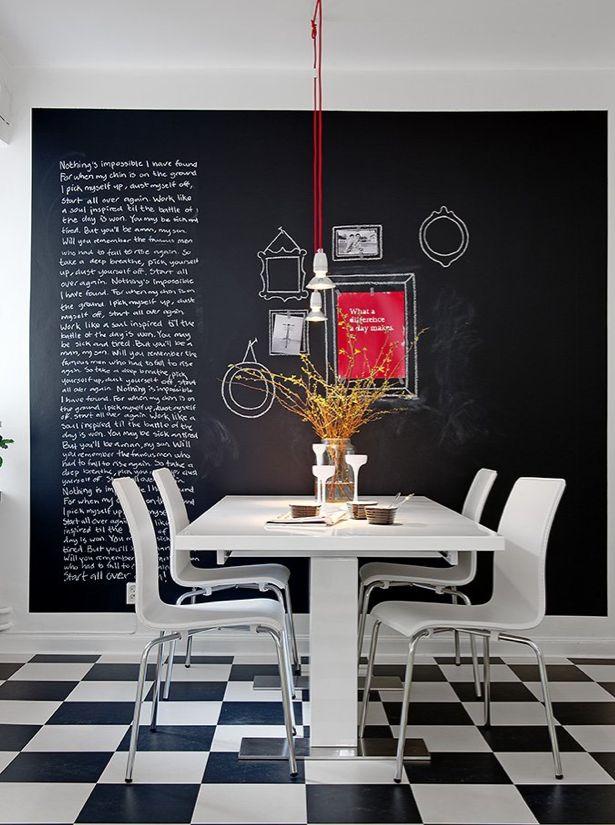 Living in DesignLand: PARED PIZARRA EN COCINA