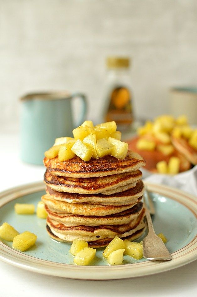 Cinnamon apples, Pancakes and Oatmeal on Pinterest