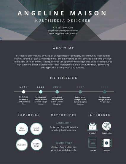 70 best Resume images on Pinterest Infographic resume, Resume - timeline resume