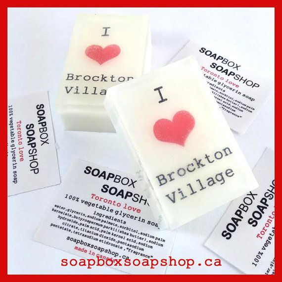 I heart Brockton Village Souvenir Soap by SoapBoxSoapShop on Etsy