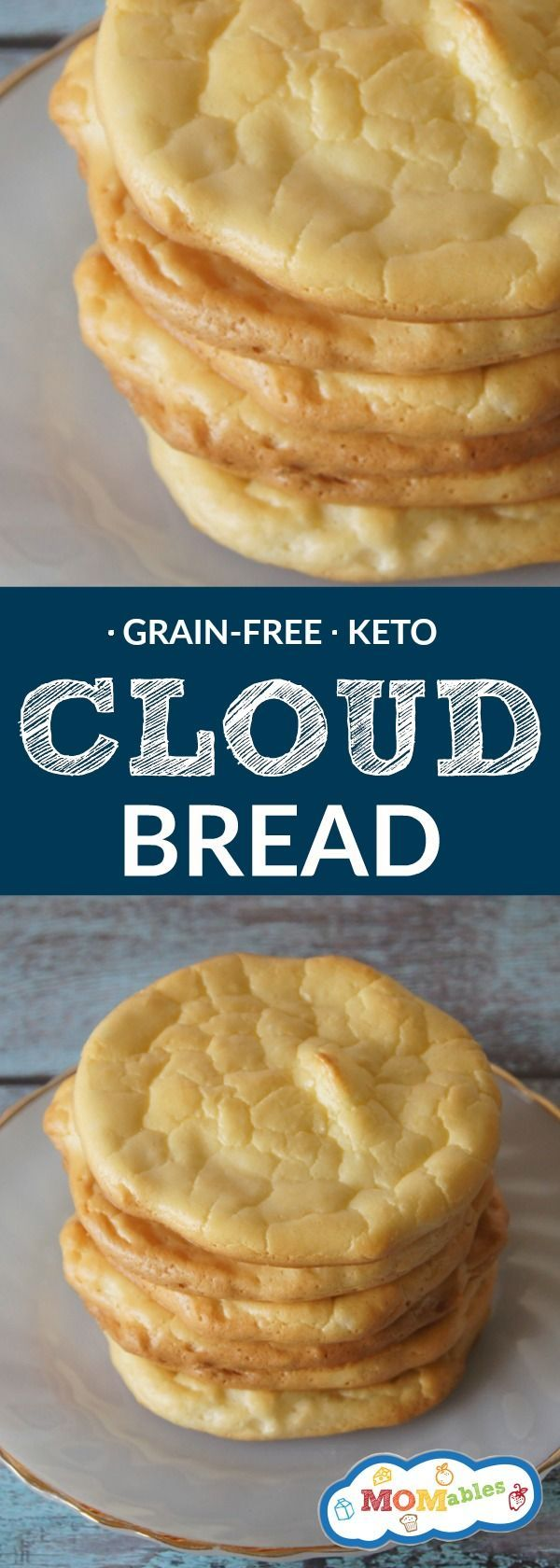 Low carb, gluten and grain free bread, made with only four ingredients! Use it for sandwiches, burgers, or toast! This is the perfect keto and grain-free recipe.