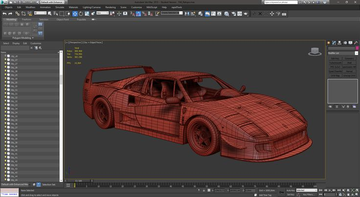 [FREE] Ferrari F40 3D Model on Behance