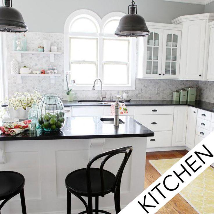 Before & After Showcase – Ashley's Black & White Kitchen