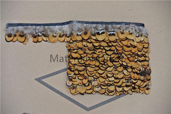 Frange de plumes de faisan 10 yards trim frange de plumes de queue faisan garniture