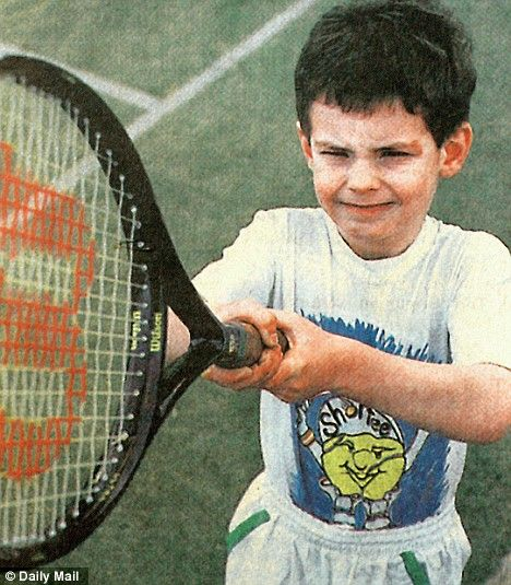 Little Andy Murray #tennis #andymurray