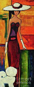 Bichon Painting - Bichon Frise Lady by Carolyn Shireman