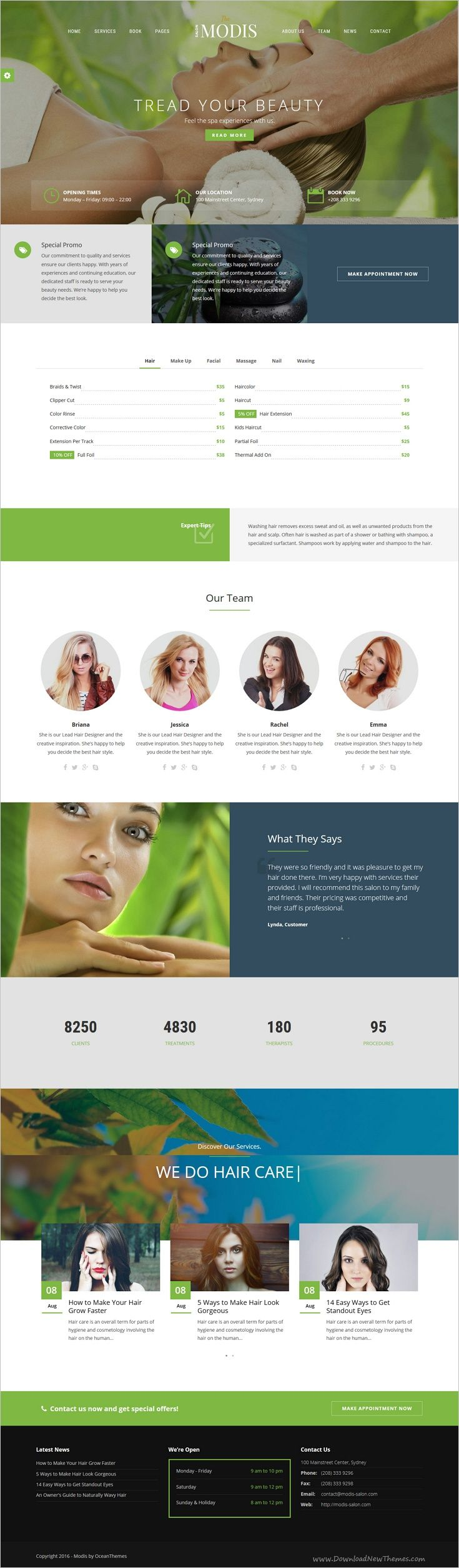 Modis #Salon & #Barber #WordPress Theme is created for anyone looking to start their on amazing beauty or healthcare website with 10+ homepage layouts download now➩ https://themeforest.net/item/modis-salon-barber-wordpress-theme/18098333?ref=Datasata