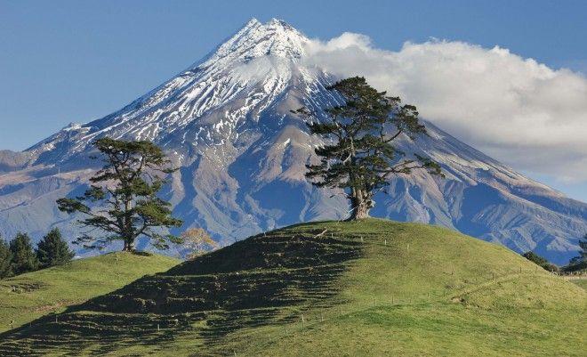 Mount Taranaki, North Island, in Egmont National Park, New Zealand