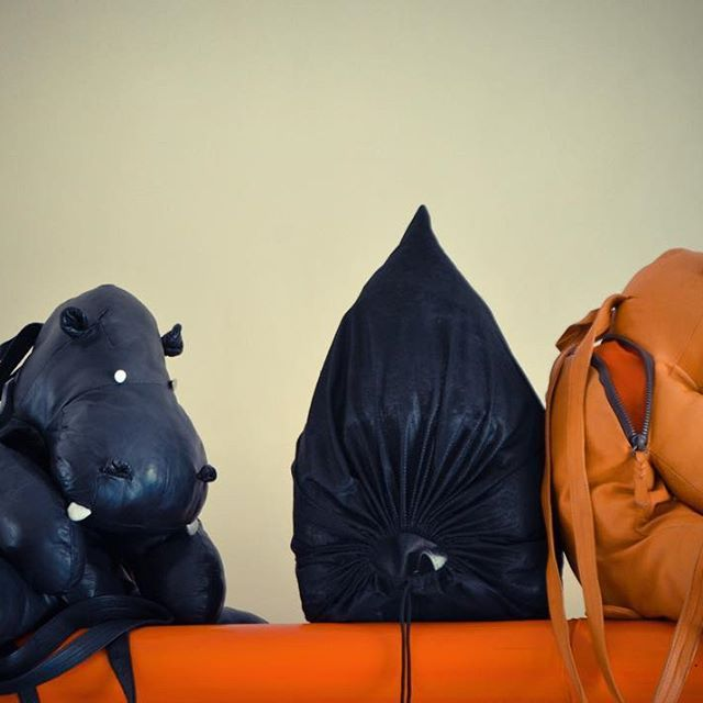 Cuties Hippo backpacks on a waiting list to be sent to their new homes  #gift #кожаныйрюкзак #loveher #lovehim #couplegoals #leather #leatherbag #подарокдевушке #bag #backpack #instafashion #instagay #lgbt #limitededition #handmade #real