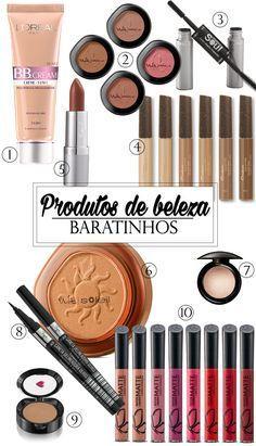 Confira essa lista de produtos de beleza que se encaixam na categoria bom e barato!