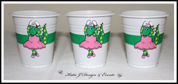 Dorothy the Dinosaur The Wiggles Personalised Birthday Party Decorations Supplies Packs Shop Online Australia Banners Bunting Wall Display Cupcake Toppers Chocolate Wrappers Juice Water Pop Top Labels Posters Lanterns Invites Cup Stickers Ideas Inspiration Cake Table Katie J Design and Events 1st 2nd 3rd