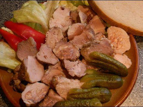 Domací vepřová konzerva - (Home-canned meats) - videorecept - YouTube