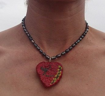 Australian design freshwater pearl necklance. Paper by SortThePost, $40.00