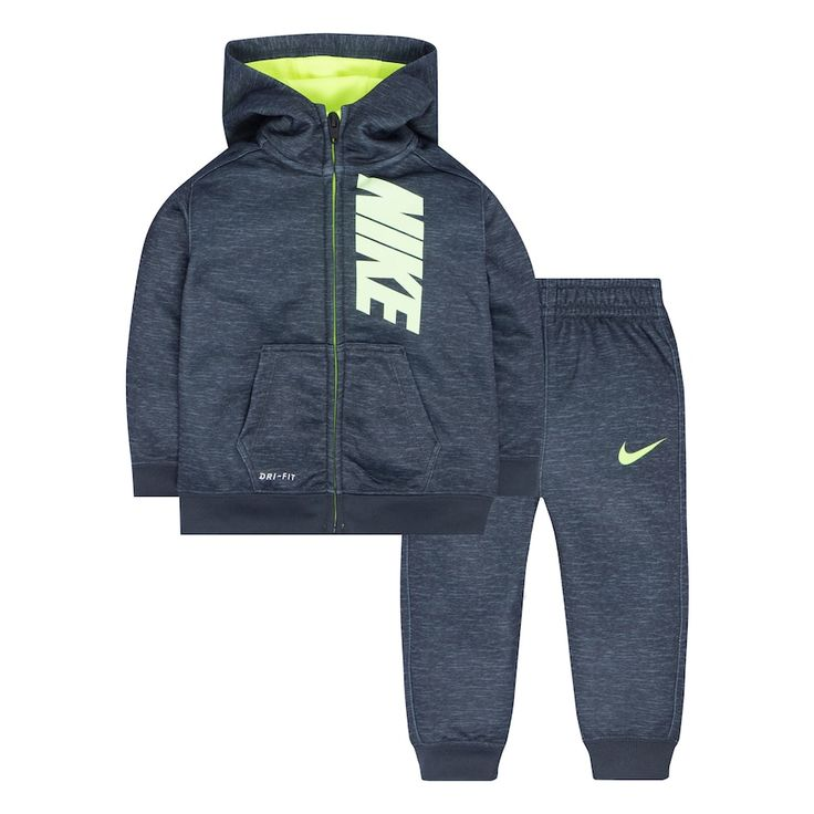 Baby Boy Nike Therma-FIT Space-Dyed Fleece Hoodie & Pants Set, Size: 24 Months, Grey Other