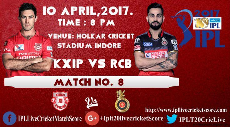Kings XI Punjab vs Royal Challengers Bangalore, KXIP vs RCB Indore, IPL Live Score update, KXI Punjab Vs Royal Challengers Punjab Holkar Stadium Indore.