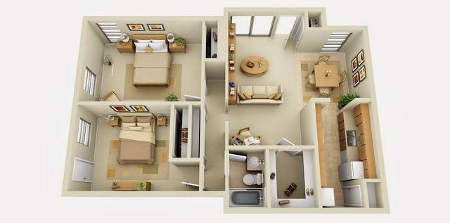 3d House Plans 1000 sq ft #floorplan #housefloorplan #homefloorplan