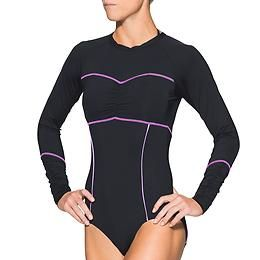 Ariel One Piece Rashguard - Stun onlookers in the lineup when you catch a wave in our hippest suit yet.